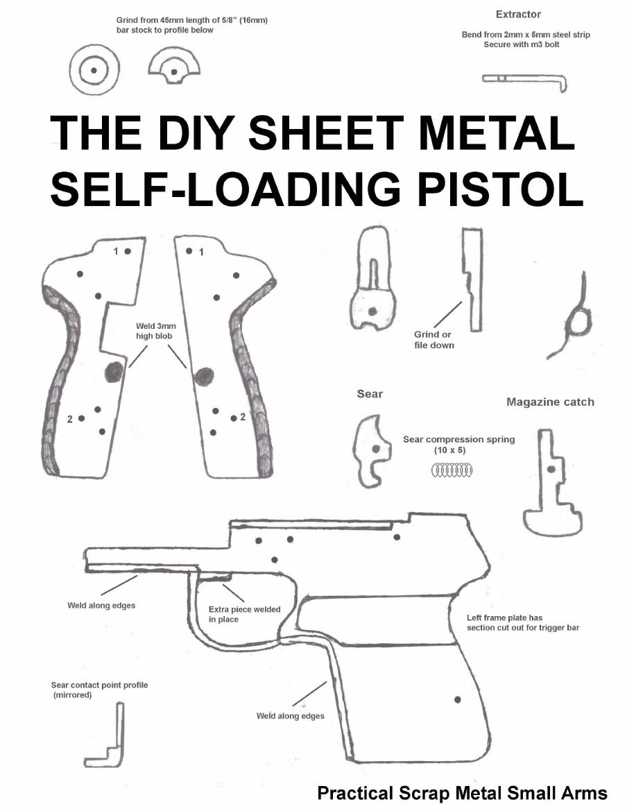The DIY Sheet Metal Self-Loading Pistol (Practical Scrap