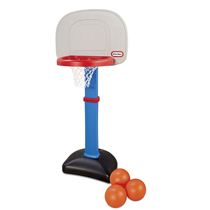 Amazon Com Little Tikes Easy Score Basketball Set Blue 3 Balls Amazon Exclusive Toys Games Basketball Hoop Little Tikes 3 Balls