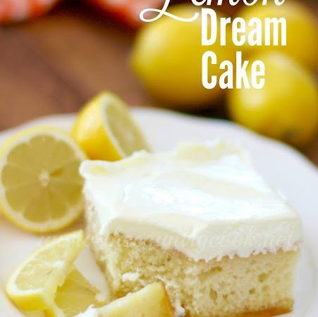 Lemon Dream Cake starts with a boxed cake mix swirled with lemon pie filling. All topped with a creamy, lemony whipped topping! Easy and yummy!