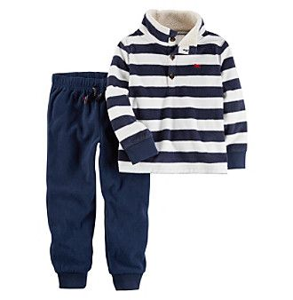 Carter's® Boys' 2T-4T 2 Piece Long Sleeve Top And Pants Set