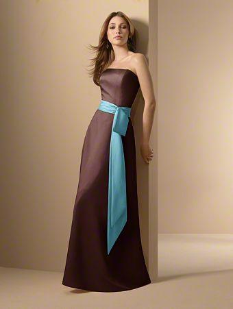 brown & blue bridesmaid dress | Bridesmaids, Mothers ...
