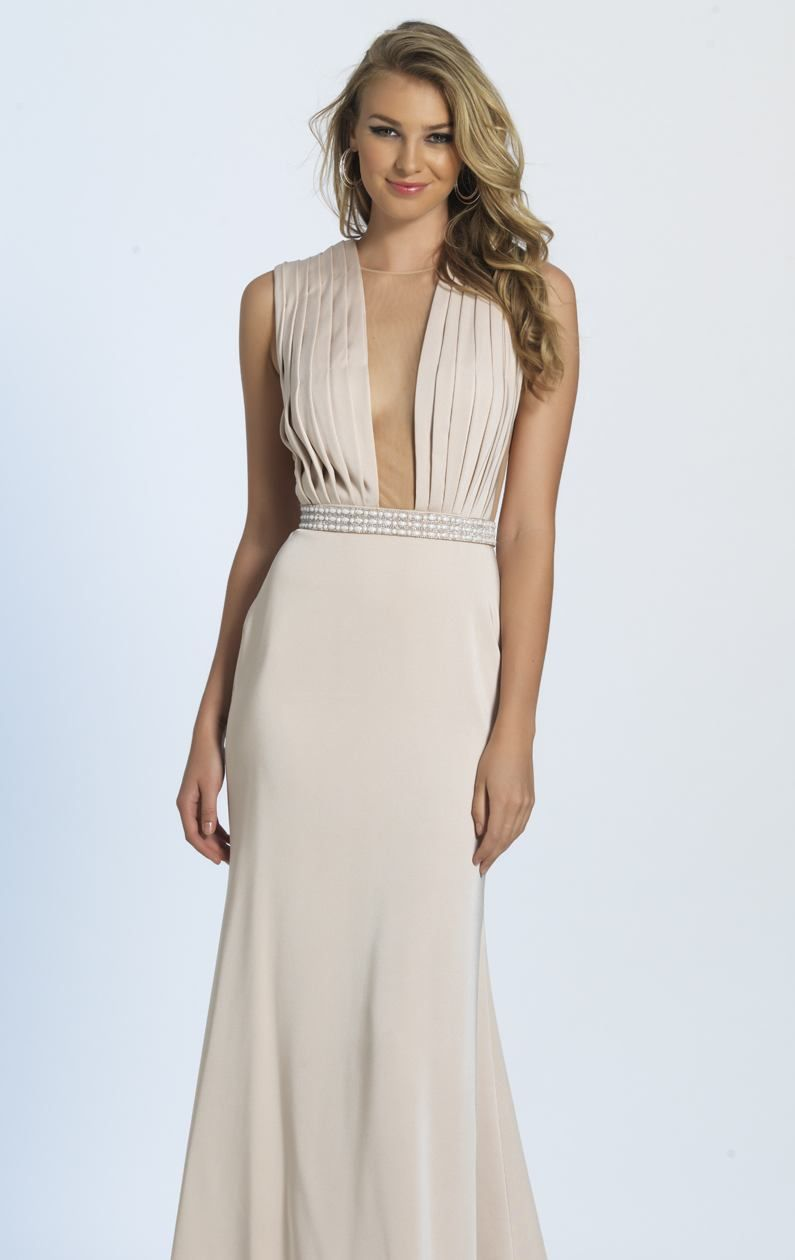 Elegance is yours in dave and johnny a pleated details formed