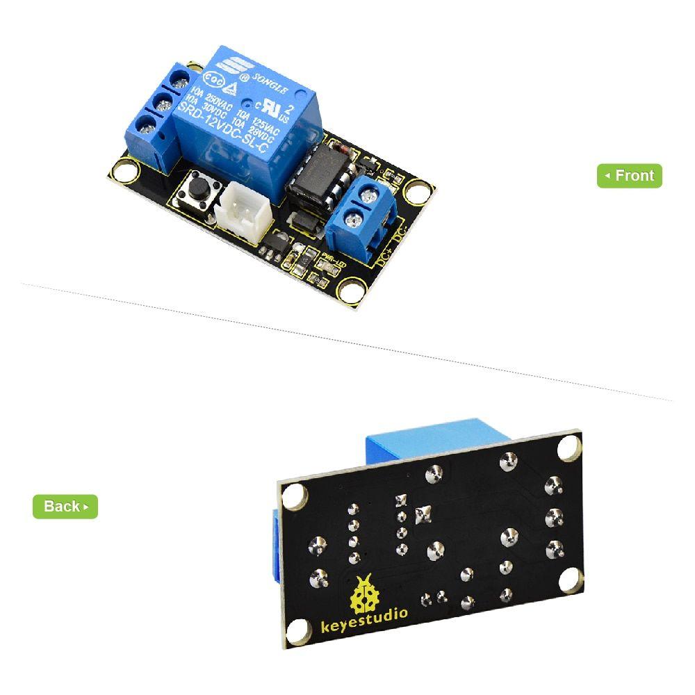 Keyestudio Button-Controlled One Channel STC15F104W 12V Relay Module