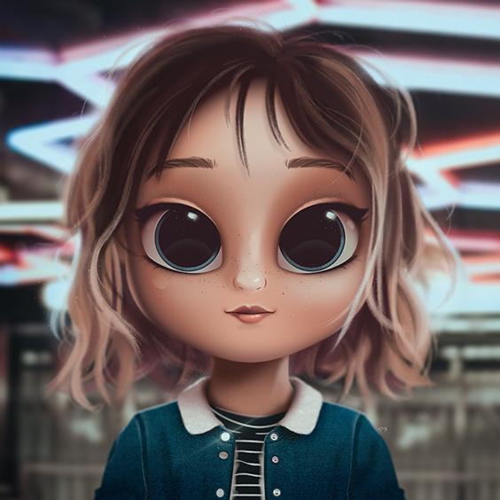 Cartoon Portrait Digital Art Digital Drawing Digital Painting Character Design Drawing Big Eyes Cute Illustration Art Girl Grace Cute Cartoon Girl Girl Cartoon Cute Girl Drawing