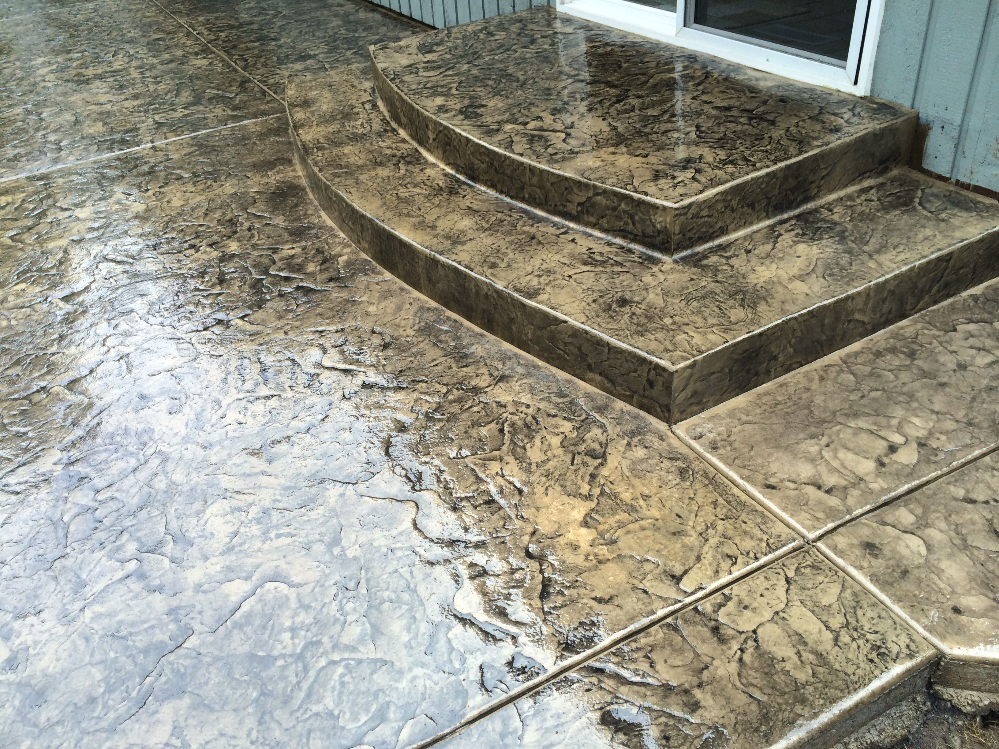 Monster Slate Stamped Concrete Pinterest Slate