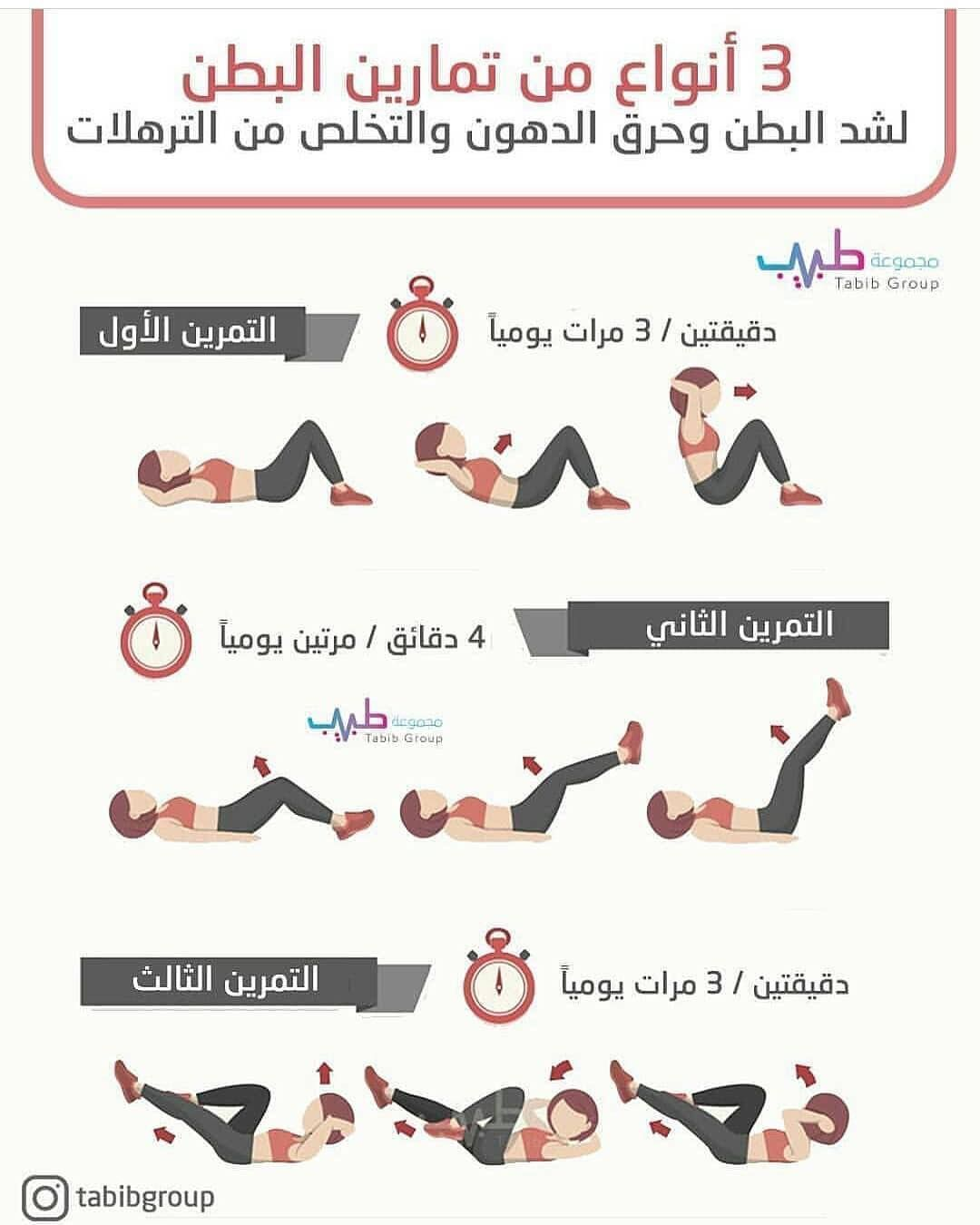 حياة صحية On Instagram ثلاث أنواع من تمارين البطن Diet Healthy Health And Fitness Expo Health Fitness Nutrition Health Insurance Companies
