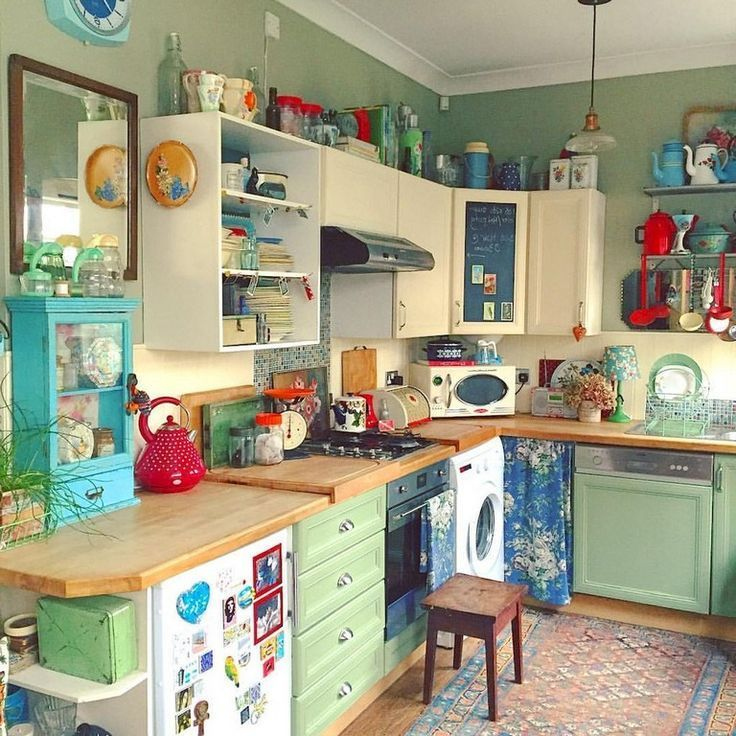 Scandinavian Kitchendesign Ideas: Vintage Kitchen, Hippie Kitchen