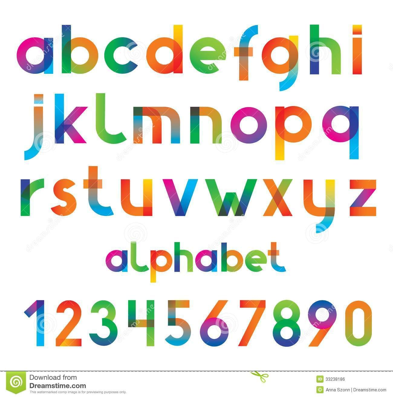Free Colorful Fonts Royalty Free Stock Image Colorful