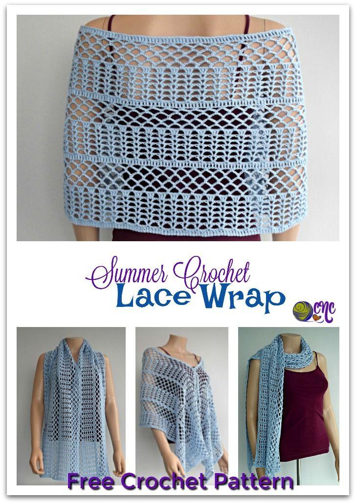 Summer Crochet Lace Wrap Free Crochet Pattern Pinterest