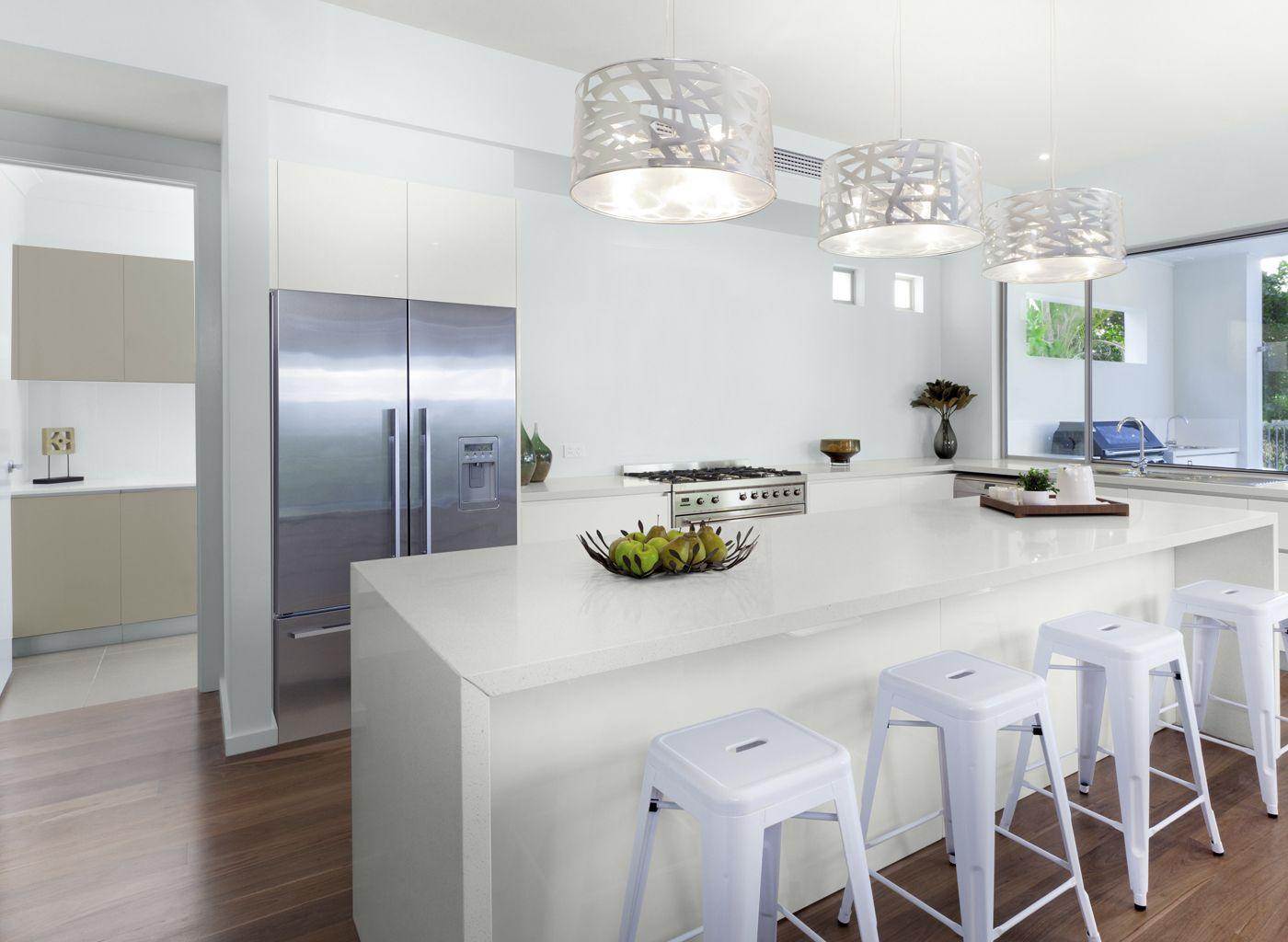 Aqua U0026 White Kitchen | Glidden White Lagoon