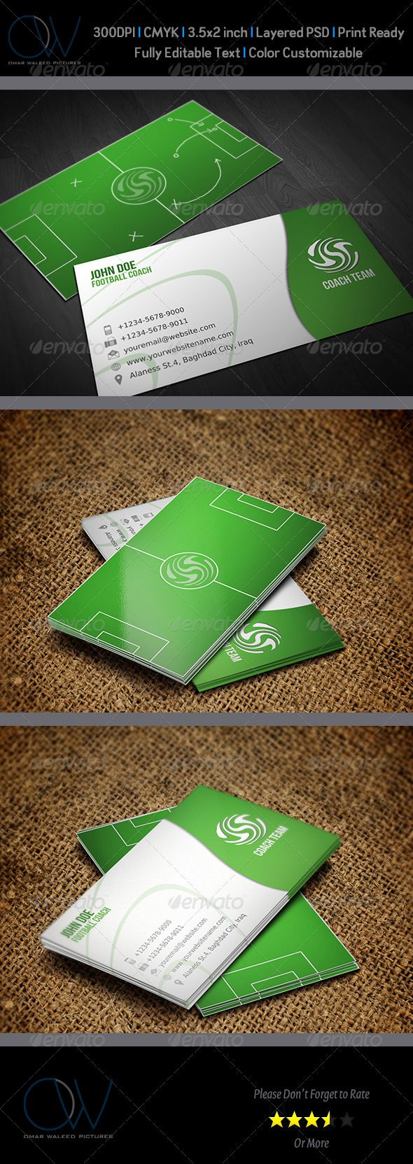 Football Coach Business Card | Business cards, Business and Logos
