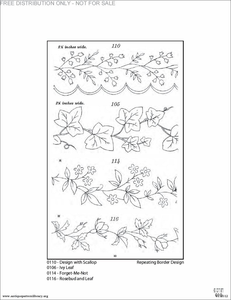 Border Embroidery Patterns Possible To Use For Parchment Cards
