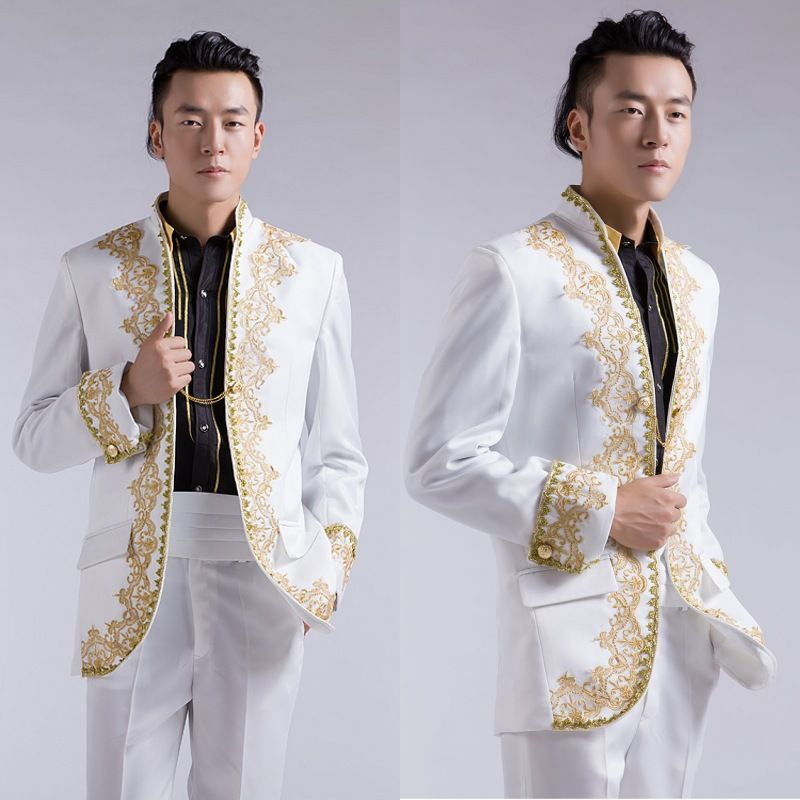 Cheap Suit Jacket Sleeve Length Buy Quality Big Directly From China Suits Online Suppliers Chinese Wedding Groom Tuxedo Gold Embroidery