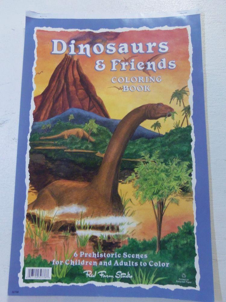 Unique Large Coloring Book 55 Dinosaurs u Friends Large