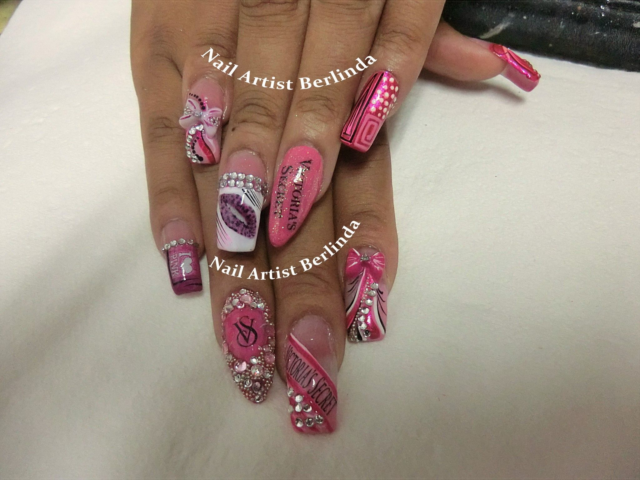 Victoria\'s Secret Nails at www.nailartistberlinda.com | Extravagant ...