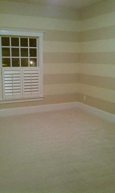 More subtle stripes in the dining room with the wooden for Painting stripes on walls
