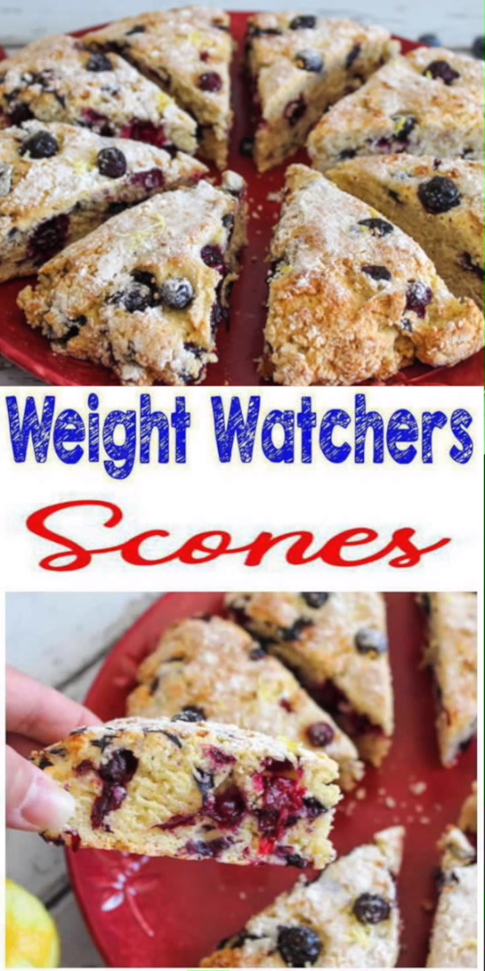 Photo of Weight Watchers Lemon Blueberry Scones – BEST WW Recipe – Breakfast – Treat – Snack with Smart Points