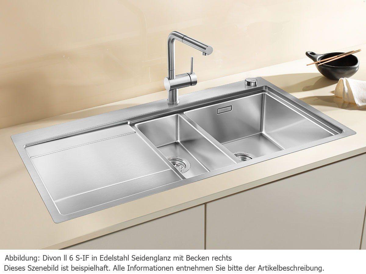 Blanco Divon II 6 S-IF Küchenspüle Edelstahl-Spüle Spülbecken ... | {Spülbecken blanco 36}