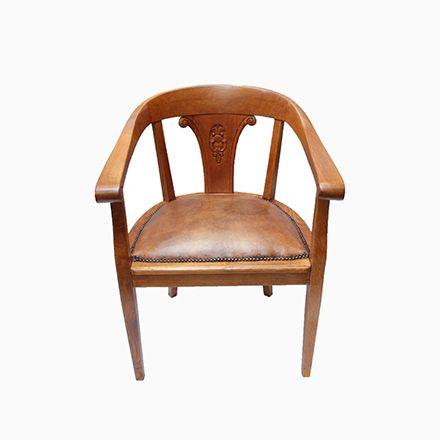 Vintage Eichenholz \ Leder Armlehnstuhl Jetzt Bestellen Unter   Esszimmer  1900