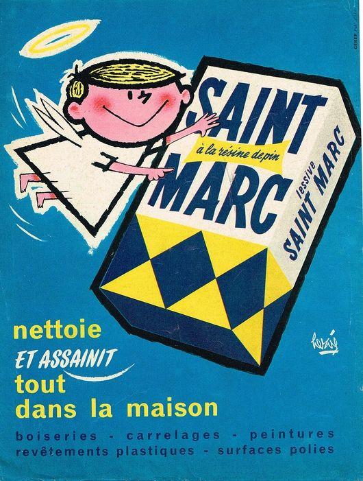 lessive st marc 1961 french ads and posters pinterest lessive affiches et pub. Black Bedroom Furniture Sets. Home Design Ideas
