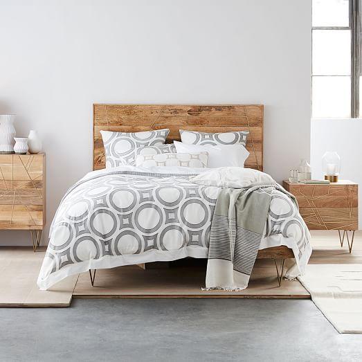 Roar Rabbit Brass Geo Inlay Bed West Elm Bedding Bed