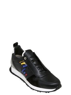 fendi - men - sneakers - lightening leather speed runner sneakers ... 026daaf21b