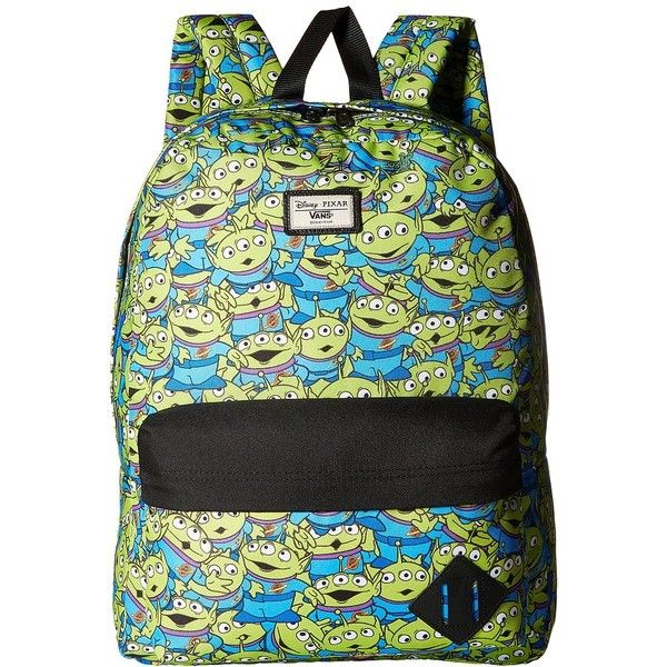 26420781200 Vans Toy Story X Old Skool II Backpack (Aliens) Backpack Bags ( 41) ❤ liked  on Polyvore featuring men s fashion
