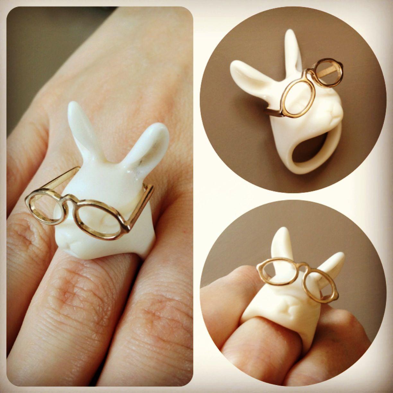 Rabbit ring, follow me on Instagram - Tanya Shin