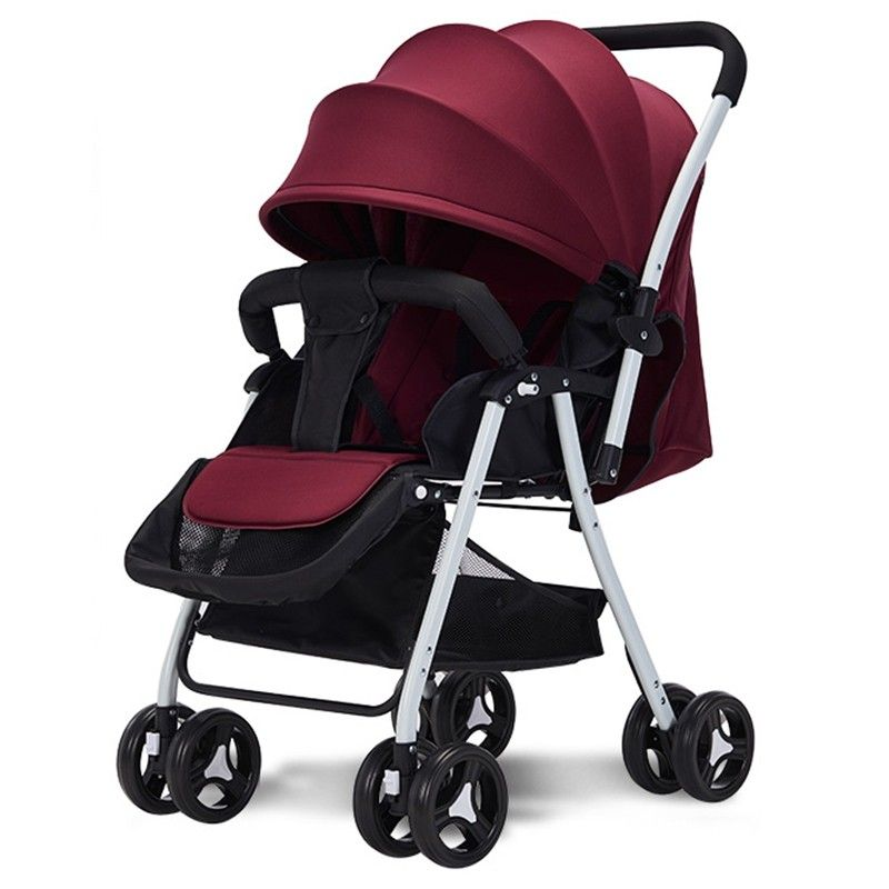 516A Twoway Sitting Reclining Stroller Red Wine