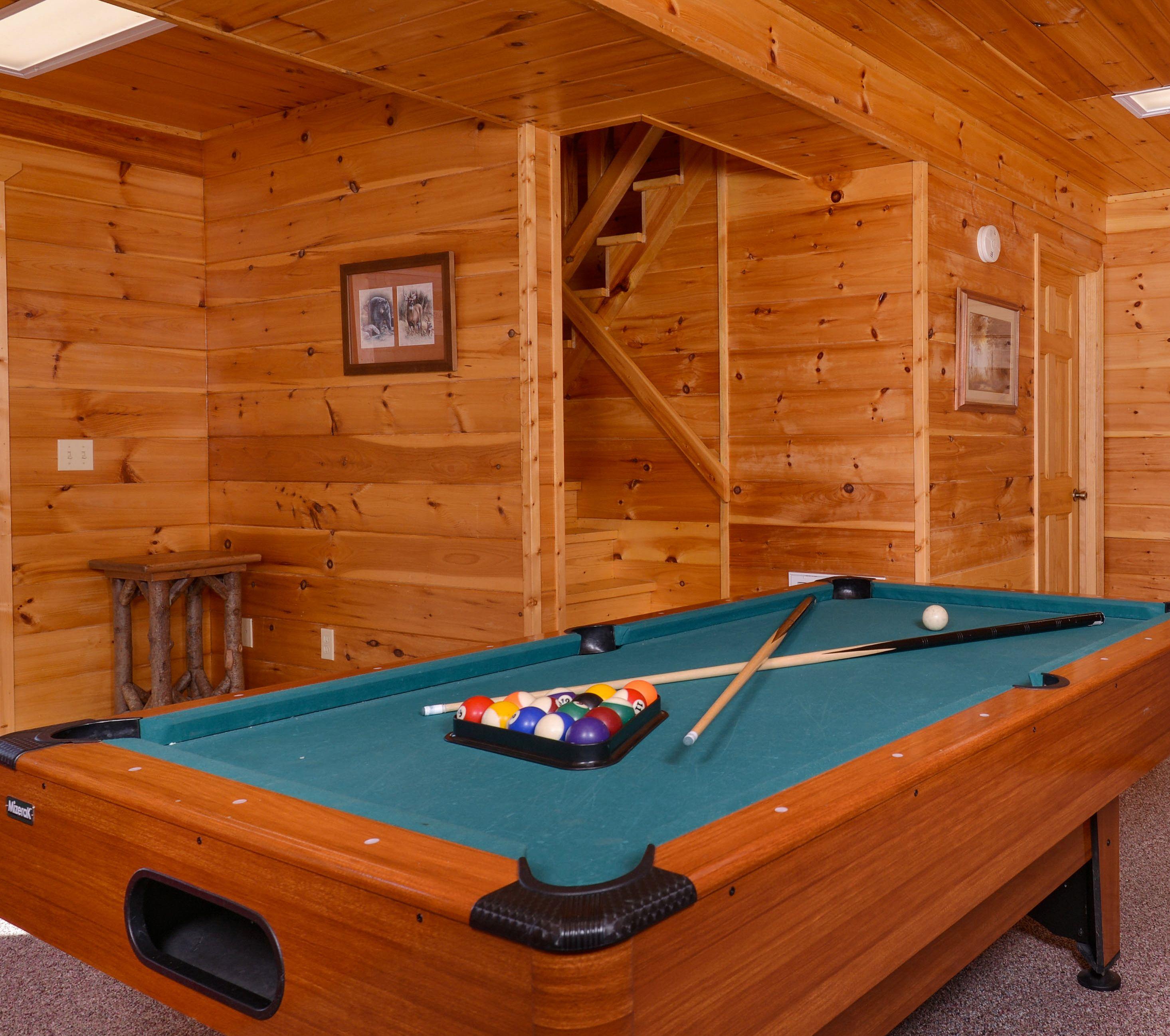 Just poolin 39 around featured cabin little smoky for Poolin around cabin gatlinburg tn