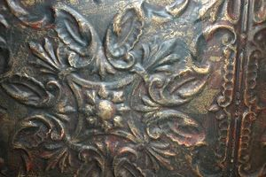 How Paint And Distress Tin Ceiling Tiles Faux Metal