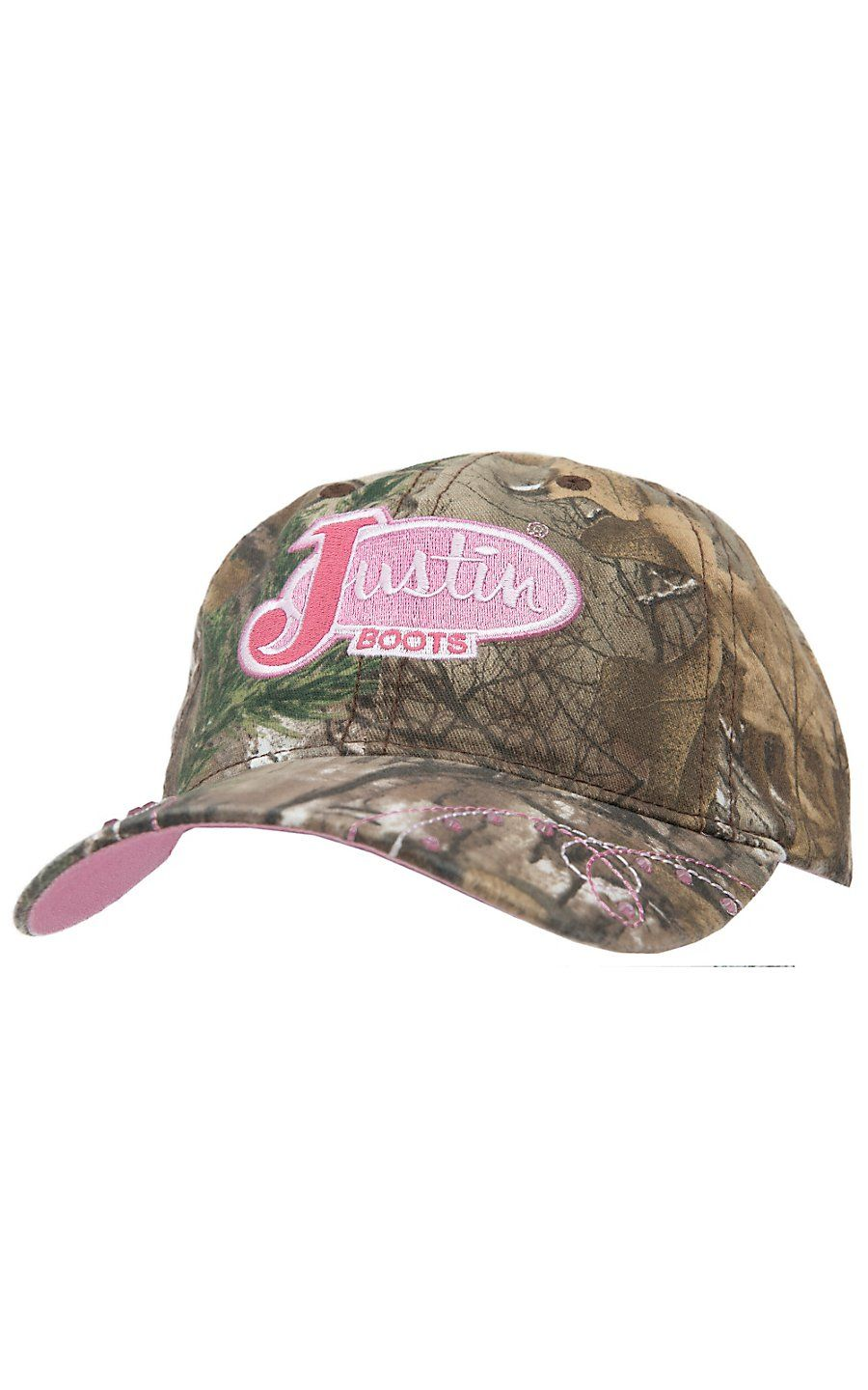 Justin Classic Logo Camo Brown Cap Justin Boots Country