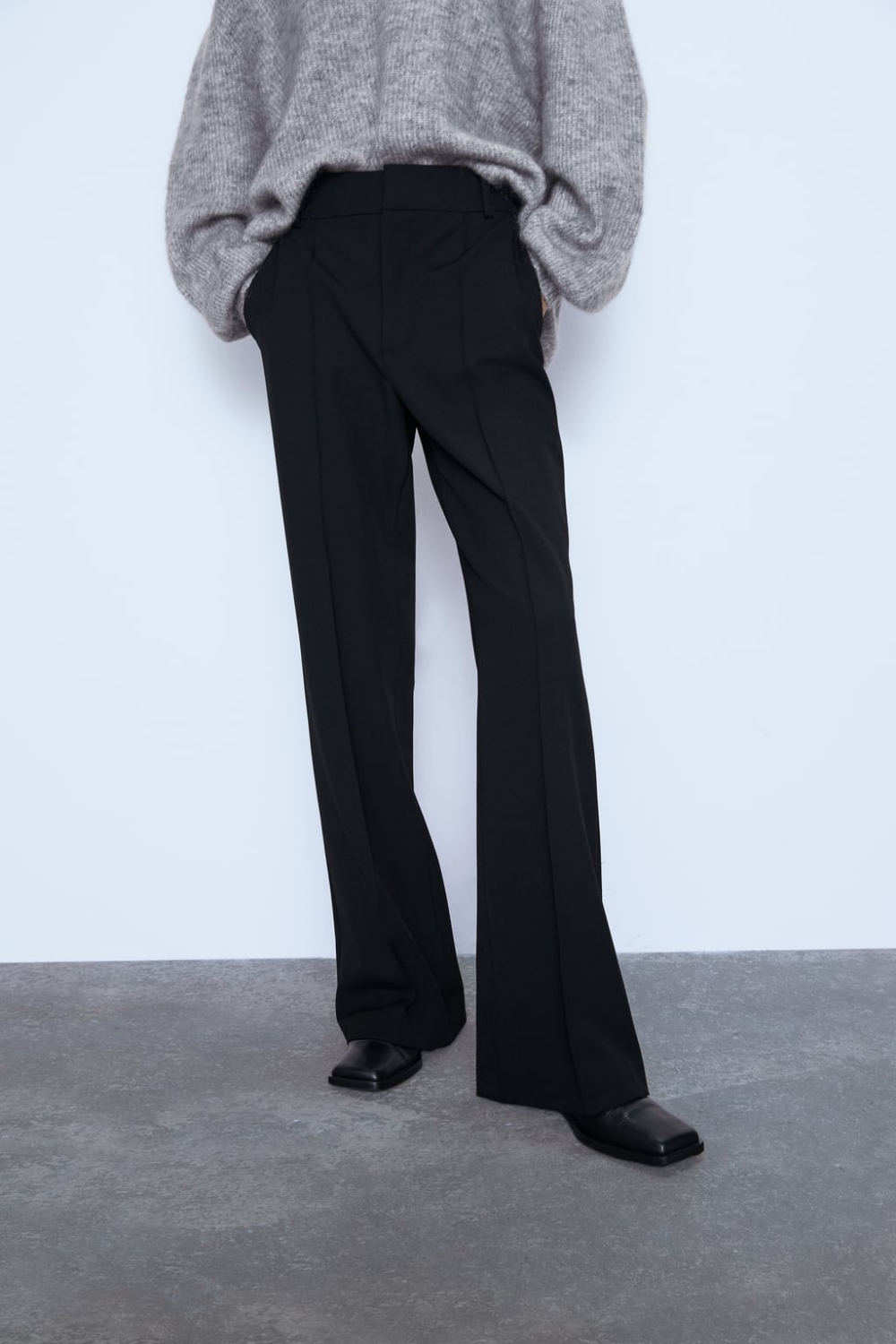 Photo of PANTS WITH SEWING DETAILS FRONT