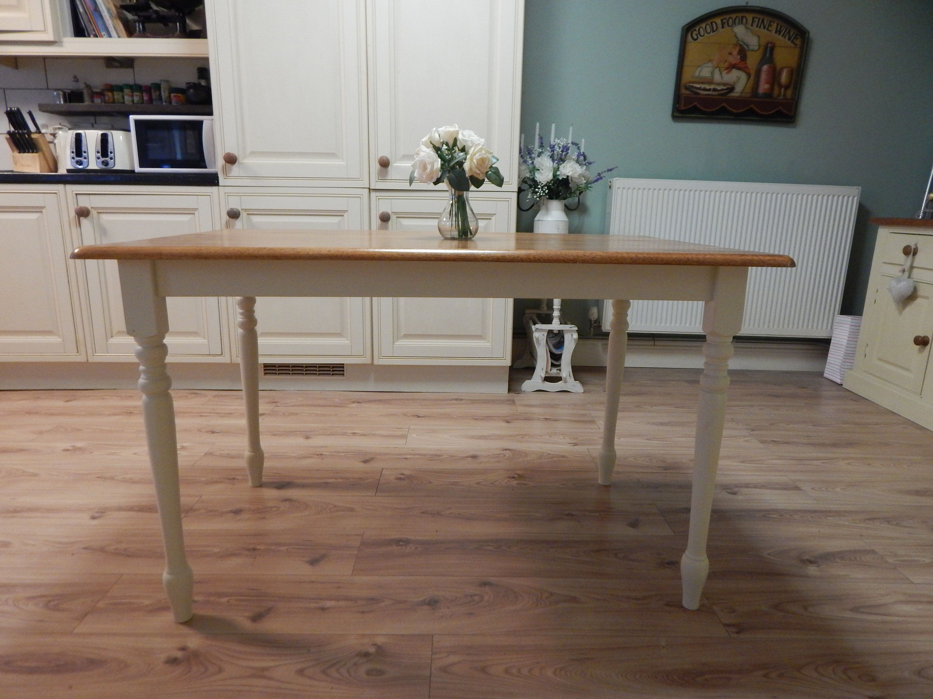Lovely Solid Beech Farmhouse Dining Table Kitchen Table By Moonstripe1