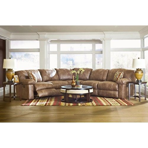 Klaussner Kensington Three Piece Reclining Sectional Sofa   Godby Home  Furnishings   Reclining Sectional Sofa Noblesville, Carmel, Avon, Ind.