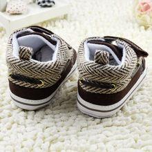 Los bebés recién nacidos primeros caminante muchachas suavemente suela cuna algodón zapatos del niño del Prewalker Velcro(China (Mainland))