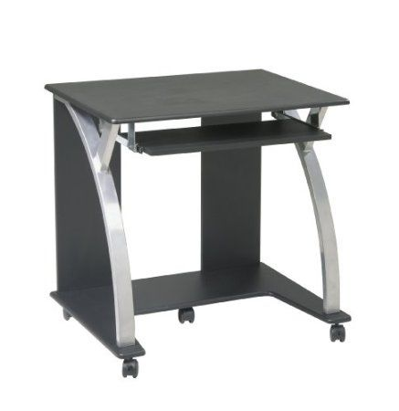 Amazon Com Osp Designs Saturn Computer Cart Black And Silver Home Kitchen Osp Home Furnishings Computer Cart Accessories Storage