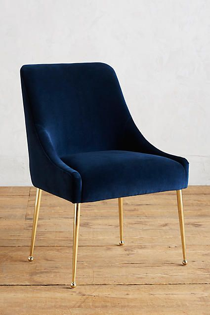 Navy Blue And Gold Chair Velvet Chair Velvet And Gold Chair Home Decor Furniture Dining Chairs Furniture Design