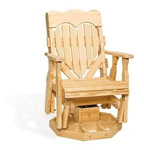 Awe Inspiring Amish Pine Wood High Back Heart Swivel Glider Chair My Creativecarmelina Interior Chair Design Creativecarmelinacom