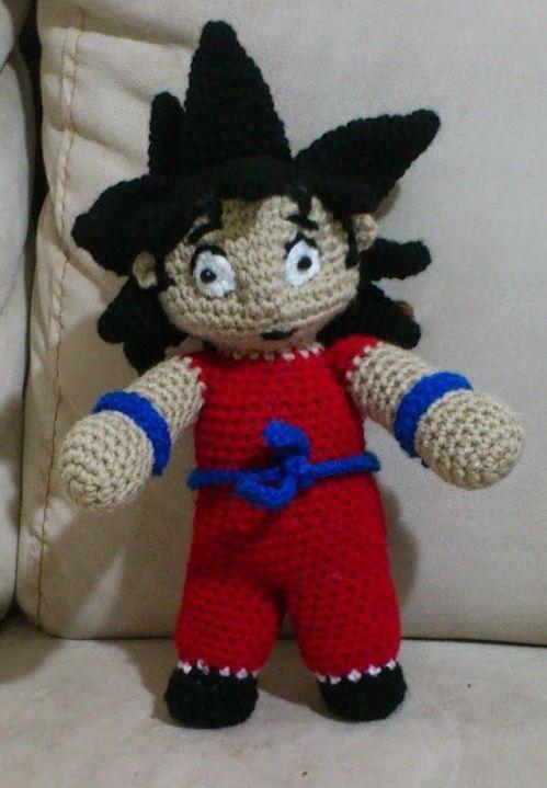 Son Goku Amigurumi ( Dragon Ball) - Patrón Gratis en Español aquí ...