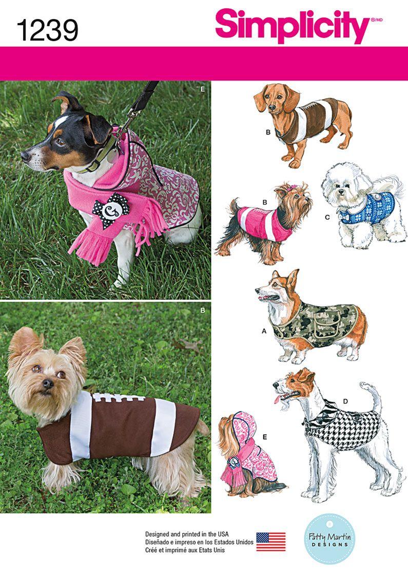 simplicity pattern for dog coats   Piggies!   Pinterest ...