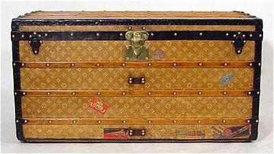 Vintage LV steamer trunk
