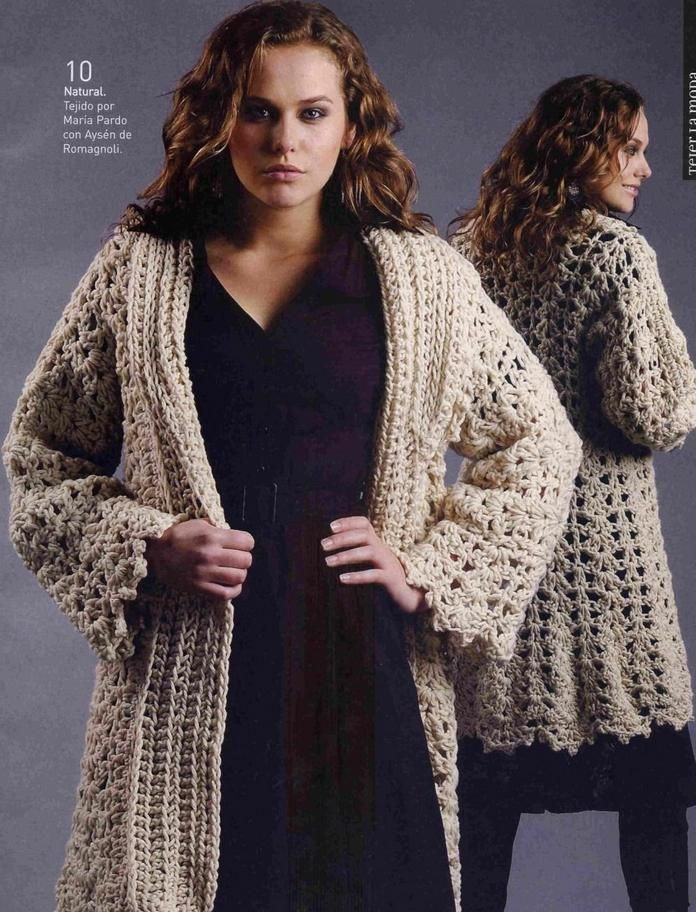 08 Site has diagrams for Crocheted coat