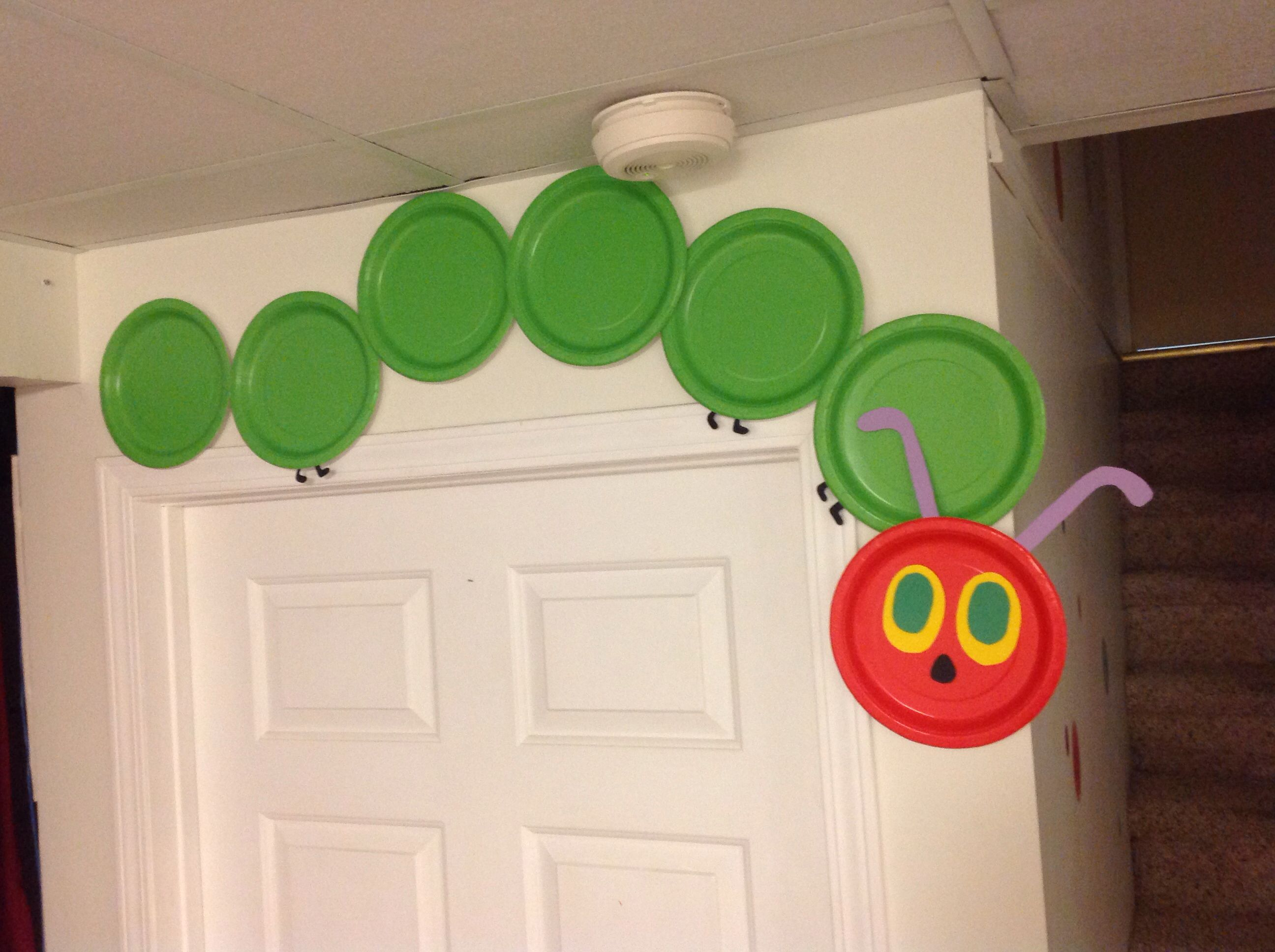 The Very Hungry Caterpillar Made With Green And Red Paper