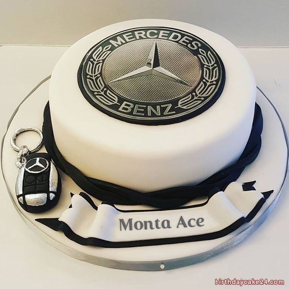 Mercedes Benz Birthday Cake With Name Cars Birthday Cake Cake For Husband Car Cakes For Men