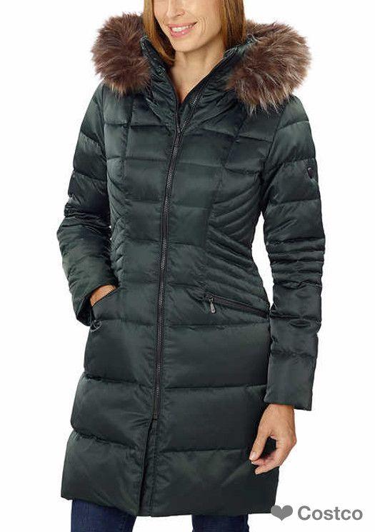 1 Madison Ladies' Hooded Down Walker Jacket