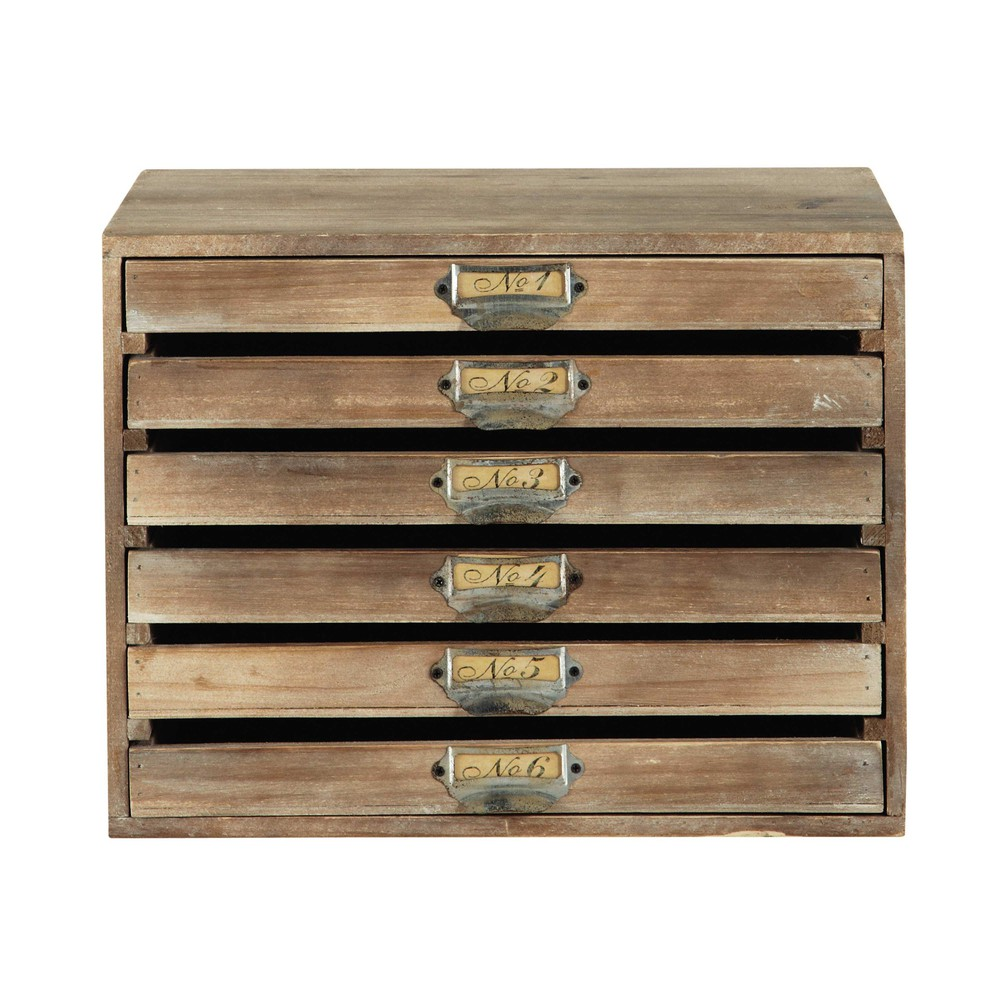 Trieur De Courrier Range Courrier 6 Tiroirs Maisons Du Monde Maison Drawers
