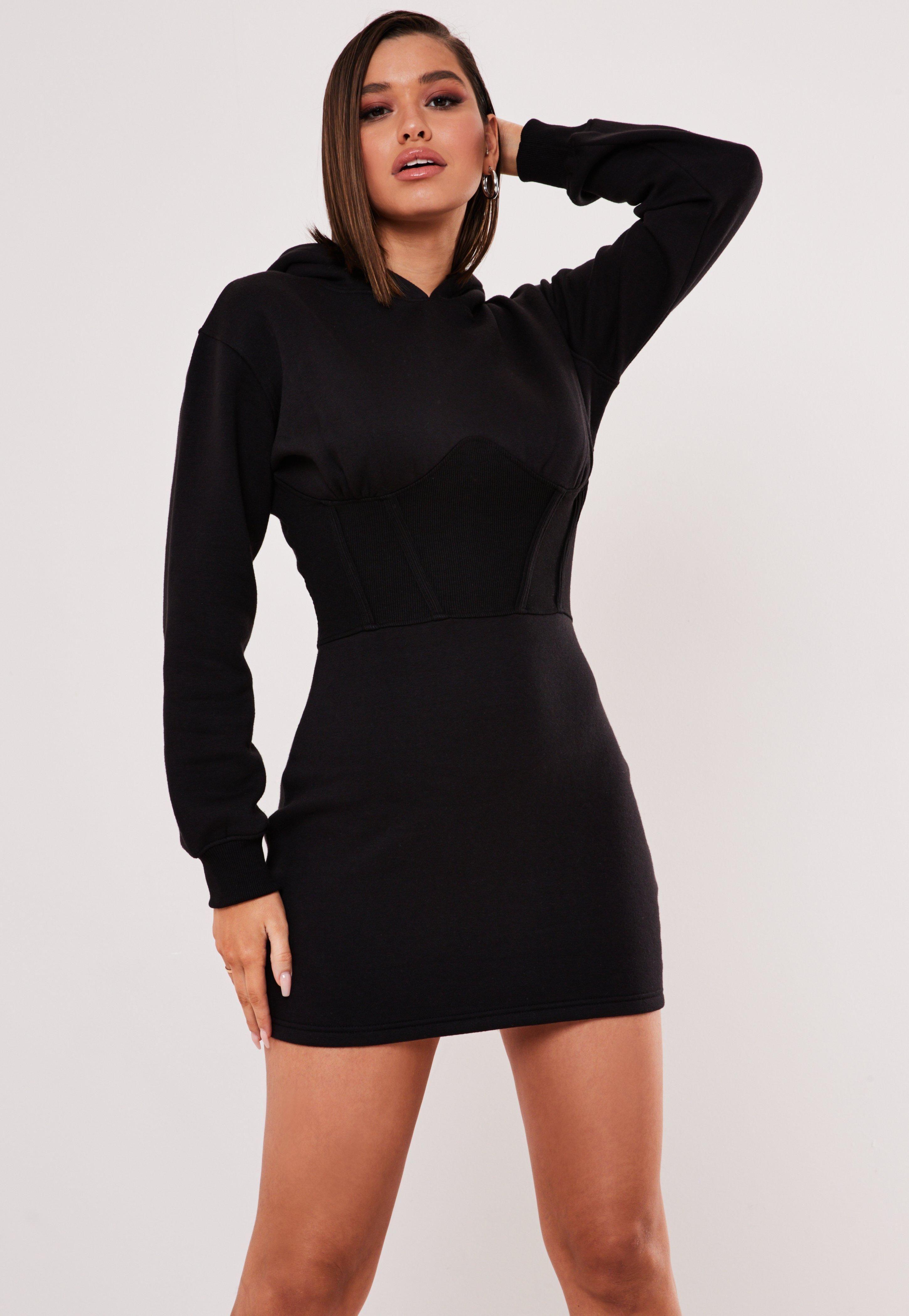 Black Hooded Corset Sweater Dress Sponsored Hooded Affiliate Black Corset Black Hoodie Dress Trending Dresses Long Sleeve Shirt Dress [ 4200 x 2900 Pixel ]
