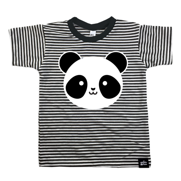 Our Adorable Kawaii Panda Design On Organic Bamboo Cotton Blend T Shirt Fit Tip These Run A Full Size Organic Kids Clothes Unique Kids Clothes Stripe Tshirt