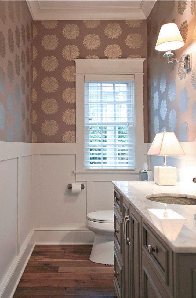 powder room. great powder room ideas. #powderroom #wallpaper